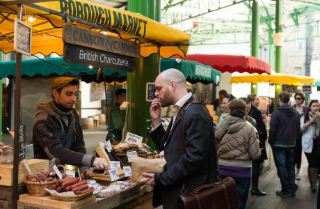 The ground that Borough Market stands on has been a hub for food markets since the 11<sup>th</sup> century. Borough Market is one of the most famous markets in London and is well known for the quality of it's exceptional British and International produce. The market now has over 100 stalls and is a central point of the local community in London Bridge. The market also has its own panel of experts who test everything that the traders produce so that goods sold are only of the highest quality. The market also includes a wide variety of cafes, bars and restaurants catering to every taste and occasion.
